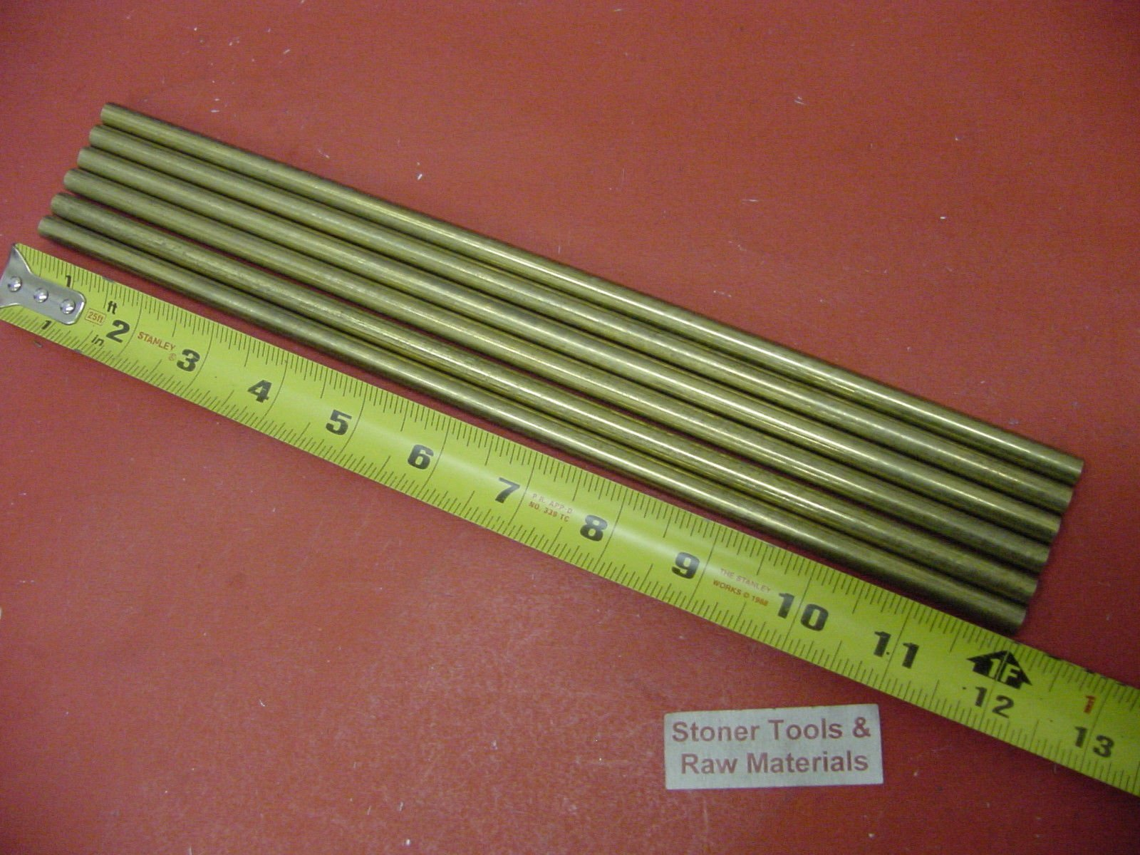 "6 Pieces of 1//4/"" C360 BRASS SOLID ROUND ROD 14/"" long .250/"" Lathe Bar Stock"