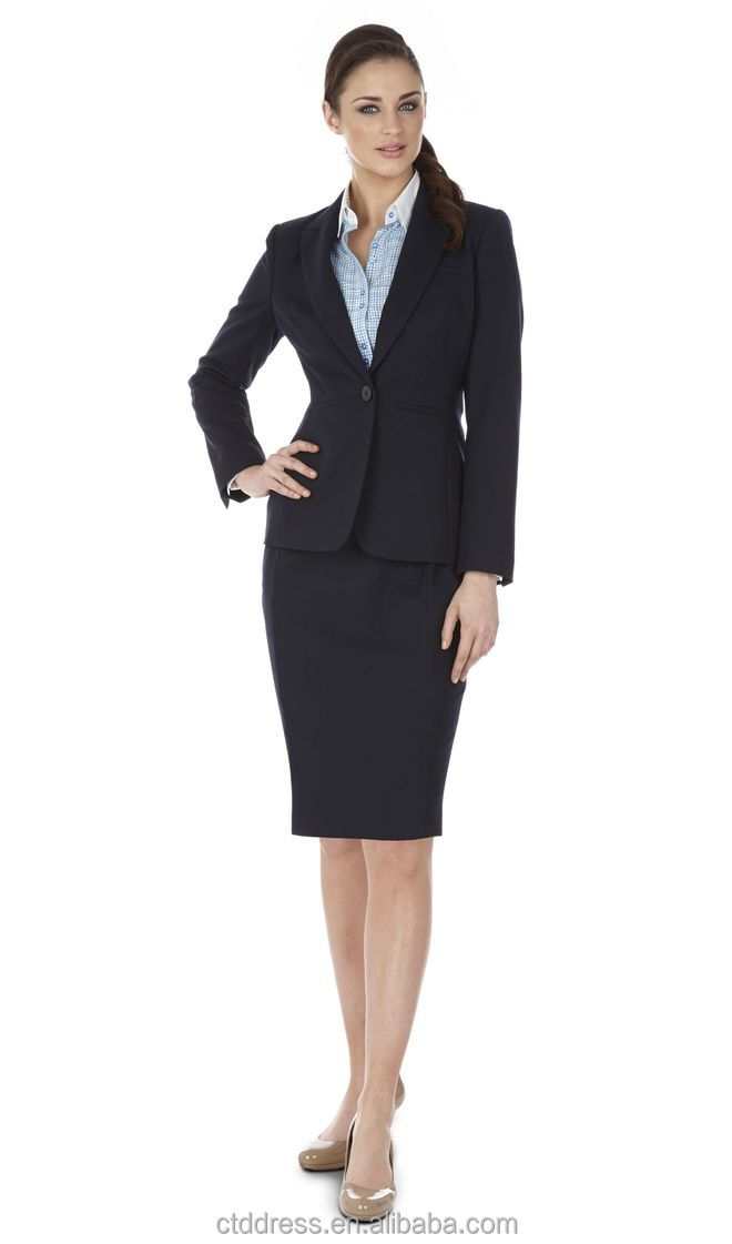 2014 Top Quality 100% Wool Classic Dark Navy Business Suit For