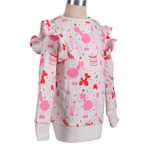 Custom Autumn 2019 New Arrivals Long-sleeve Sublimation Top Brand Casual T-shirts For Girls Korean