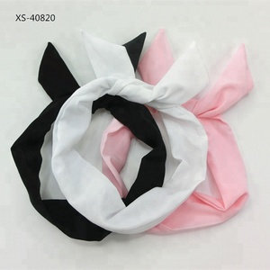 Lined Scarf Stripe Wire Printed Satin Wholesale Women Custom Headband