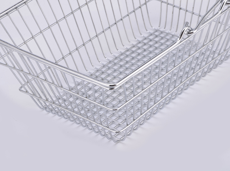 Mini supermarket shopping basket for storage