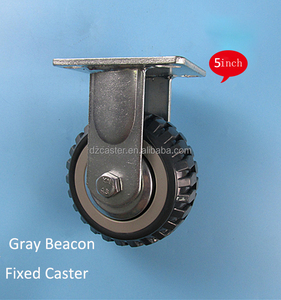 5inch 125mm heavy duty Gray PU plastic core swivel caster