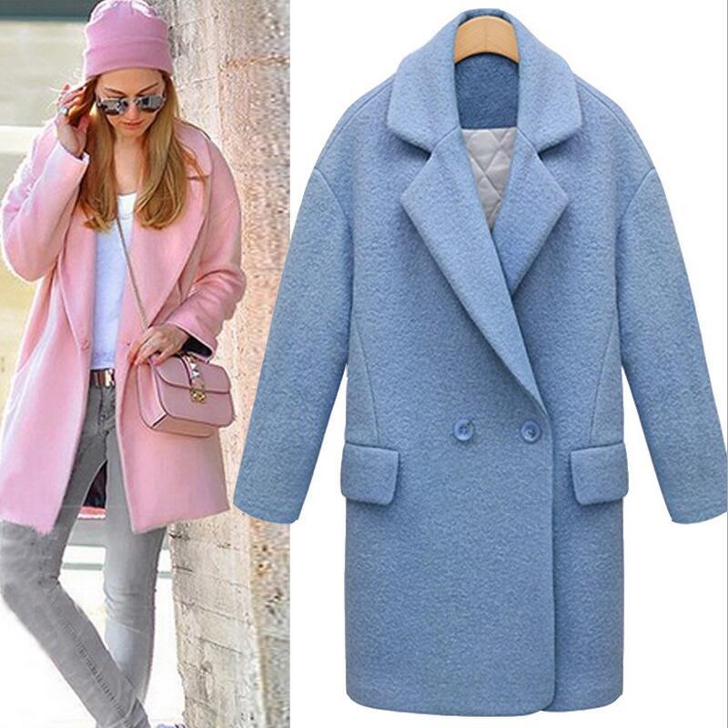 Womens Light Pink Pea Coat Coat Clothing