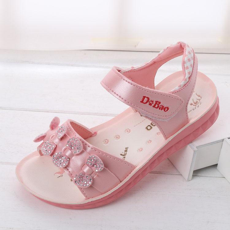 2016 New Fashion Summer Princess Girls Shoes Big Bow Beach Slippers Kids Toddler Flower Flip Flops