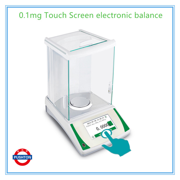 PUSHTON 0.1mg/0.0001g touch screen 0.0001g electronic weigh scale analytical <strong>balance</strong> price