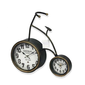 Creative Home Art Black Decorative Metal Desk Clock