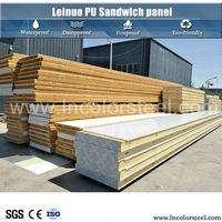pu insulated cold room roof aluminium sandwich panel with ce certificate