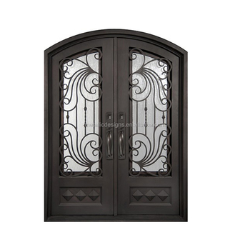Main Entrance Exterior Steel Security Door Design Arched French
