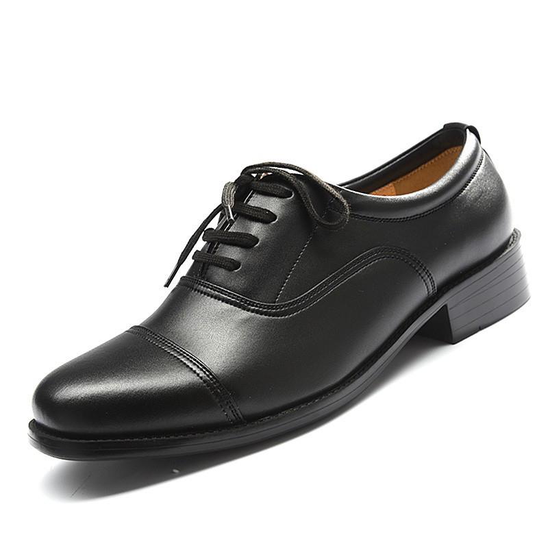 8268d48d4963 2018 Latest Classic Pure Black Men Leather Dress Shoes - Buy Men ...