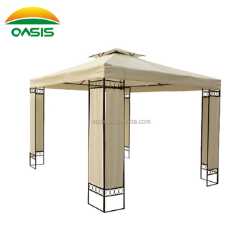 3X3 Water Proof Fabric Metal Patio Gazebo With Screen