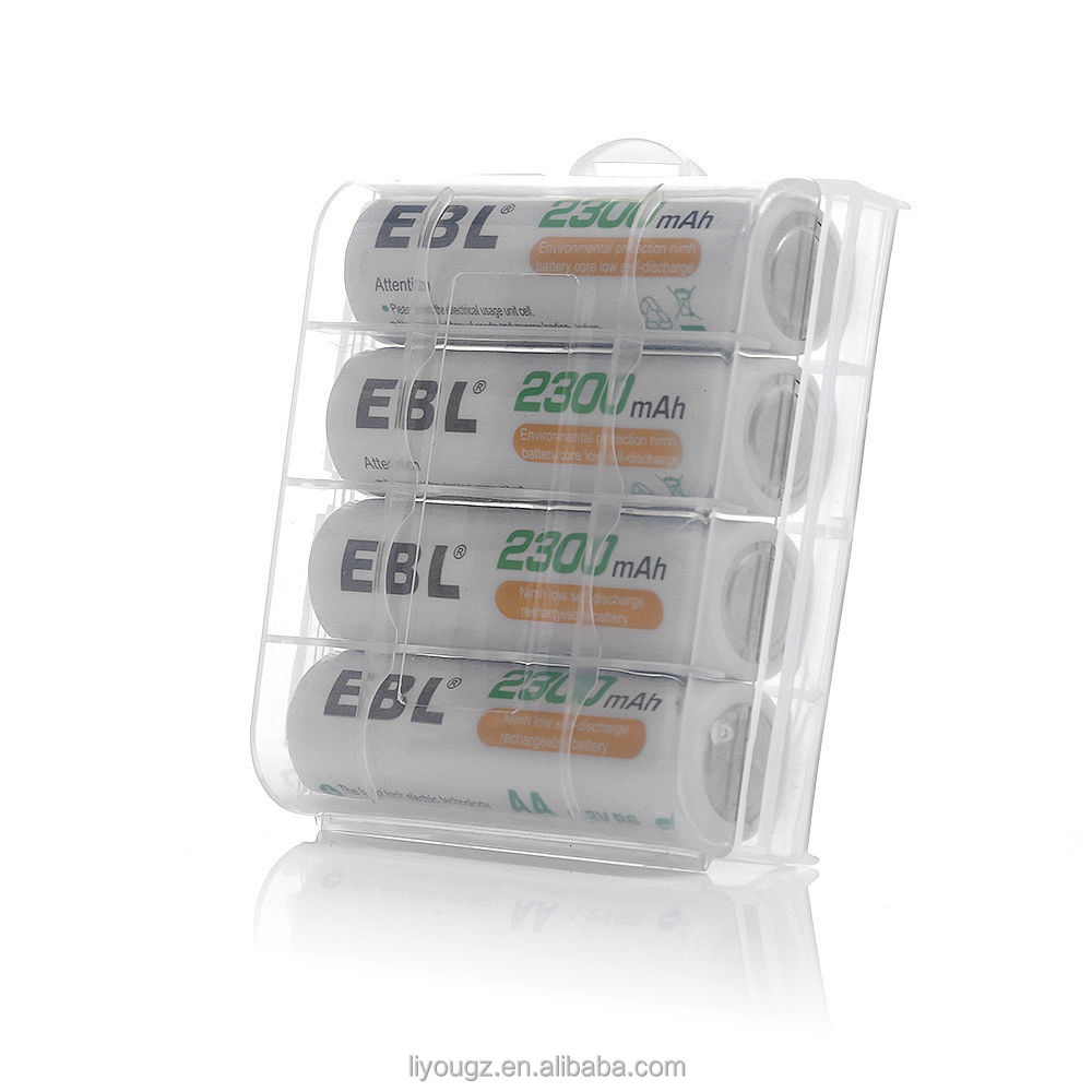 EBL 4 Pack 1.2V AA Low Self Discharge Rechargeable Batteries 2300mAh Ni-MH Batteries