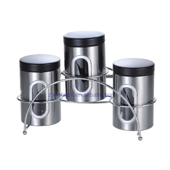 Fine Unique Metal Material Stainless Steel Kitchen Canister Set With Rack View Unique Metal Material Canister Zhongjian Product Details From Jiangmen Best Image Libraries Thycampuscom