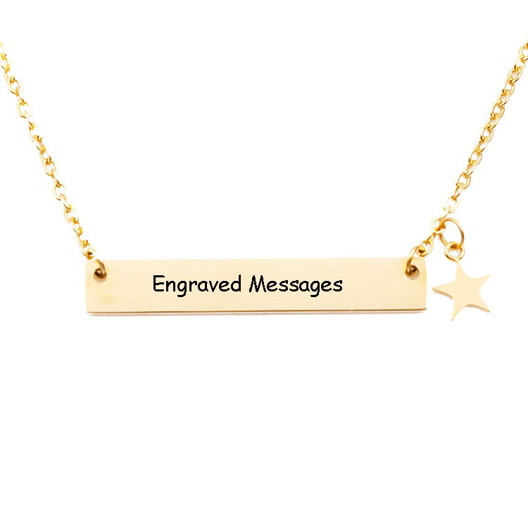 Stainless Steel Blank Bar Necklace Custom Engraved Bar Necklace Wholesale фото