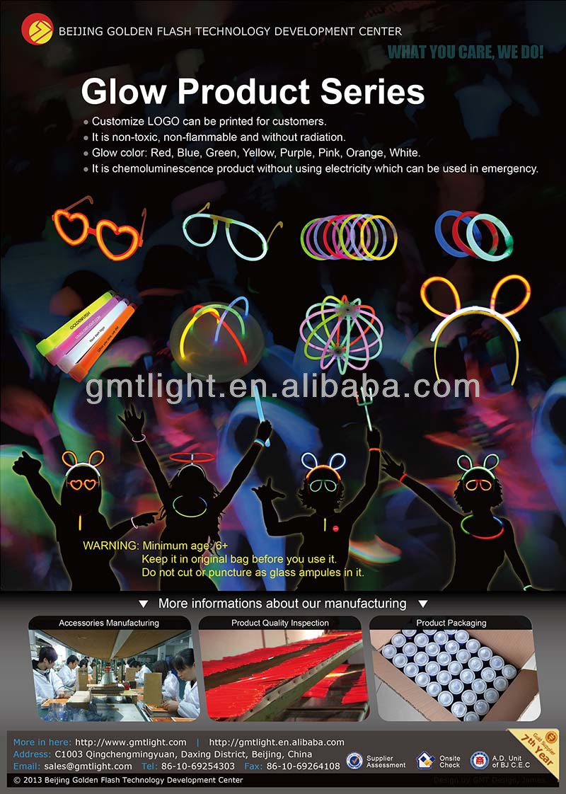Beautiful Glow stick hairpin for party light headdress