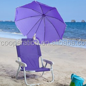 Kids Purple Beach Chair Umbrella