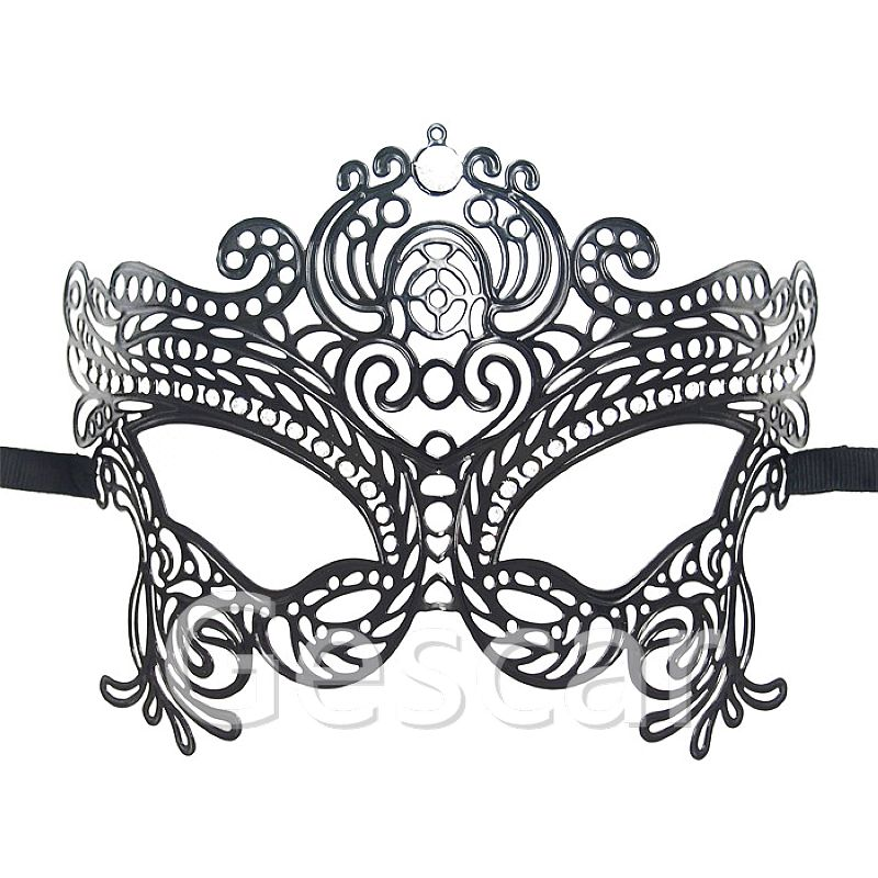 MJP-057B Mysterious Angel Masquerade party masks luxury diamond high quality black metal mask