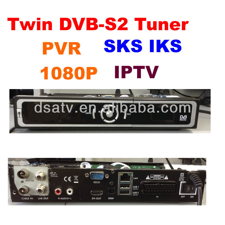 SKS e IKS wifi twin tuner ricevitore dvb s2 mpeg4 ricevitore cccam rceeiver dvb s dongle full hd ricevitore satellitare usb wifi PVR
