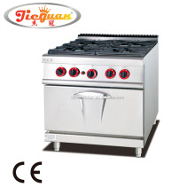 Gas Range with 4-Burner & Gas Oven