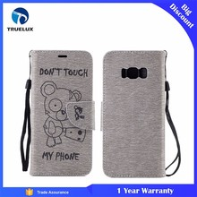 2017 Phone Accessories Mobile Flip Cover Case For Samsung Galaxy S8 Leather Case