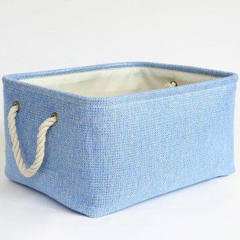 Rectangular Lined Storage Basket For Baby Toy Basket Decorative Fabric Bin  Toy Storage Bin Bedroom Storage