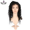 No shedding free tangle deep wave lace front wig no blonde kinky curly u part wig