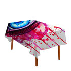 Pink Tablecloth 3D Blue Eye Waterproof Table Cloth For Dining Room Watercolor Blood Red Table Cover 5 Sizes