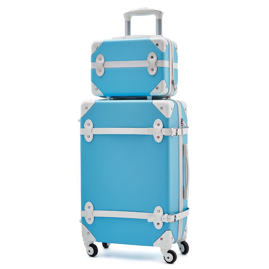 Rose ABS ensemble de bagages roulants Spinner valise roue Vintage cabine chariot sac à main femme sac de voyage