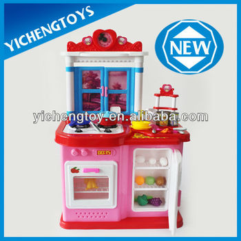 modern kitchen toy set diy kids plastic play kitchen set - buy