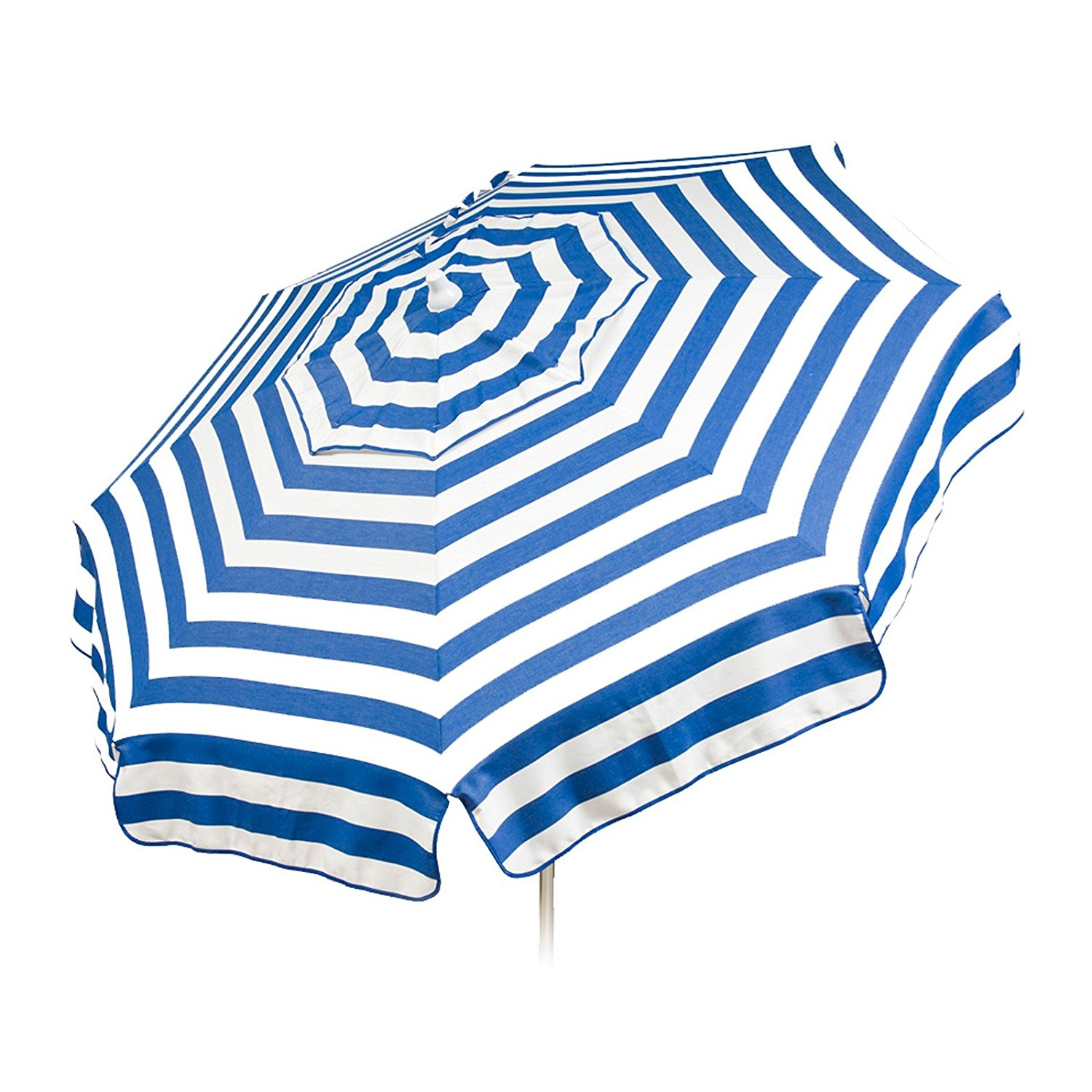 Get Quotations · Italian 6 Foot Umbrella Acrylic Stripes Blue And White    Patio Pole