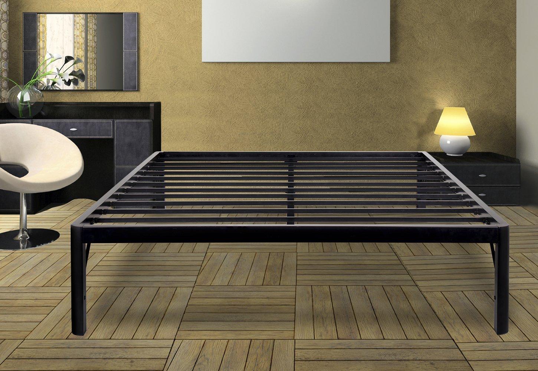 Olee Sleep 14Inch Dura Metal Steel Slate Bed Frame - S3500 Queen 14BF10Q