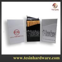 Silver Aluminum Cigarette Case Box with automatic aluminium metal cigarette box 100's Sized Flip Top Cigarette Case