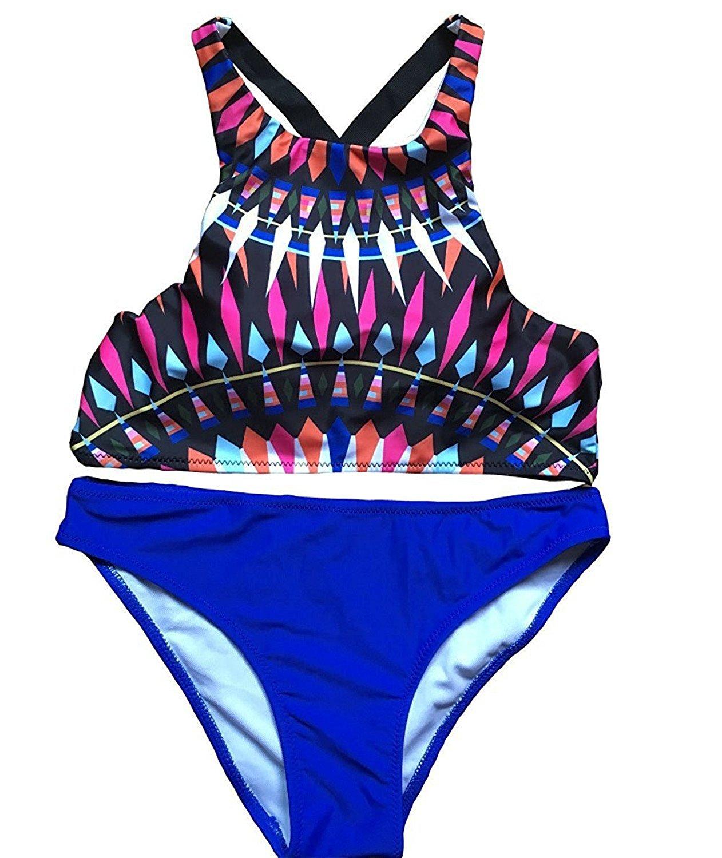 47c67c8398 Get Quotations · TOGIC Popular Womens Halter Swimsuit One piece Bikini Set  Swimwear Girl Bikinis Beachwear