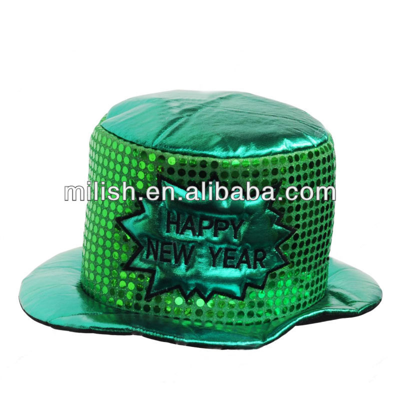 Green Party st patrick's day Funny Happy New Year top hat MH-1687