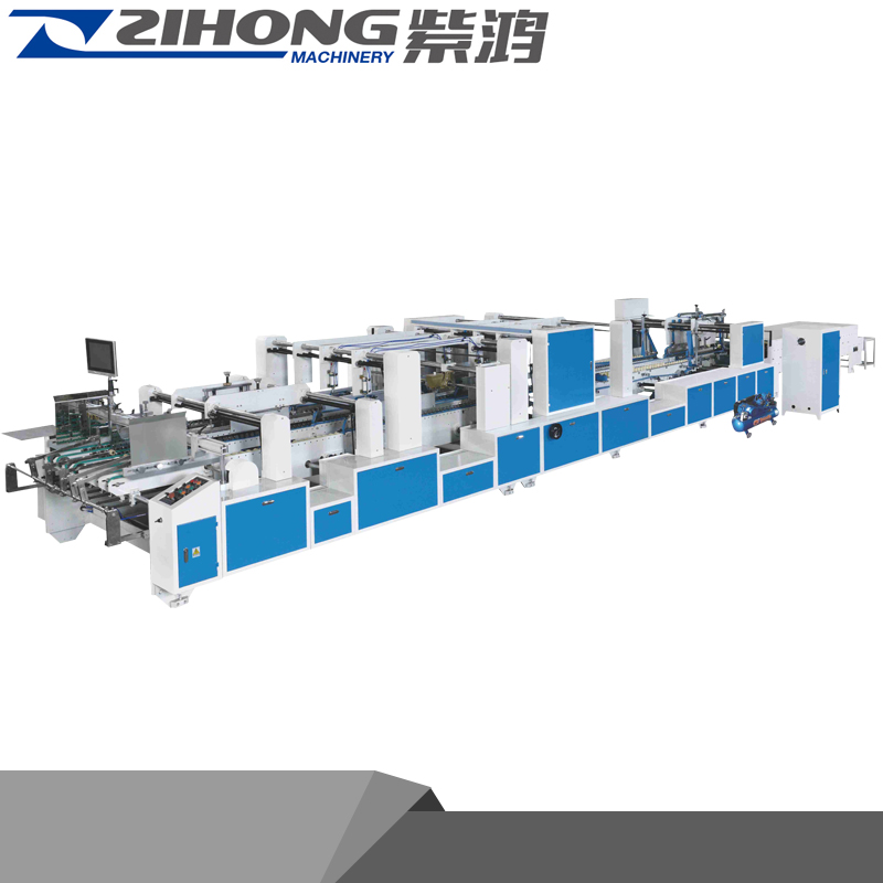 ZH-1850PC Automatic corrugated carton crash lock box pasting machine