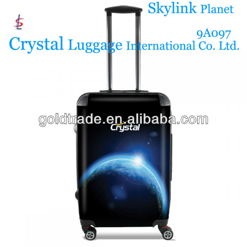 2014 100% Pure PC Luggage Space series with Fashion Design and Colorful High Quality 4- Wheels Travel Trolley Luggage