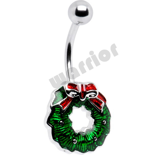 316l Stainless Steel Christmas Belly Navel Button Ring ...