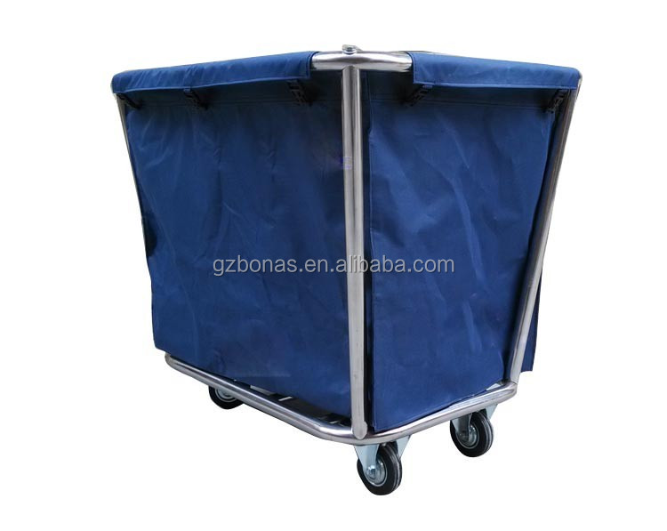 Hotel housekeeping carts linen trolley service cart hotel for Hotel room service cart
