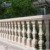 Modern custom garden natural carving marble handrail design yellow stone balustrade outdoor