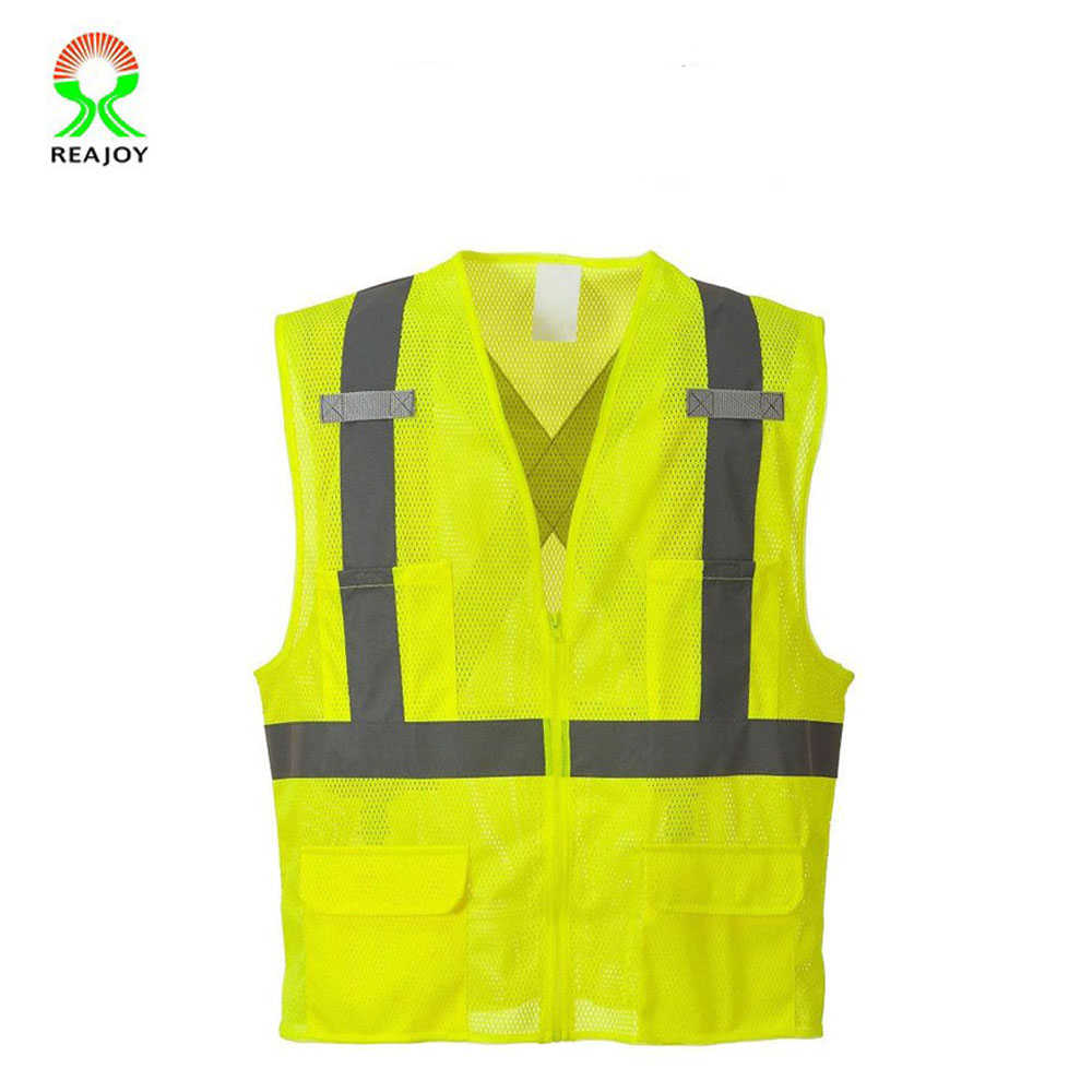 100% polyester yellow cross back safety vest