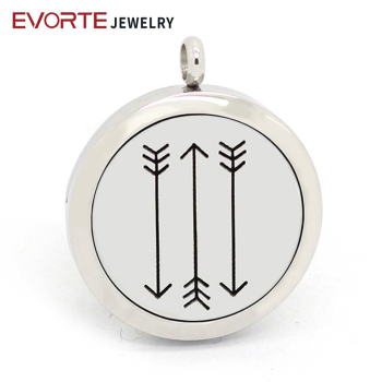 New Design 30MM Silver 316L Stainless Steel Essential Oil Diffuser Locket Necklace Jewelry