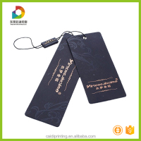 Fold over hang tags garments printing hang tag with plastic lock