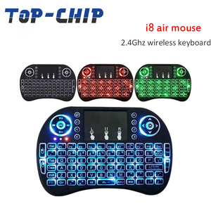 i8 Mini Wireless Keyboard with touchpad 3 Color Night Light Keyboard 2.4G Air Mouse