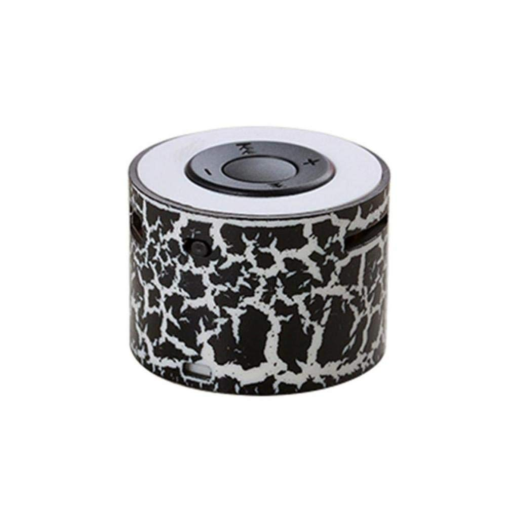 Mini Digital Portable Music MP3 Player Micro SD Portable Mini Stereo Bass Speakers Music Player MP3 TF Speaker By Liu Nian (Black)