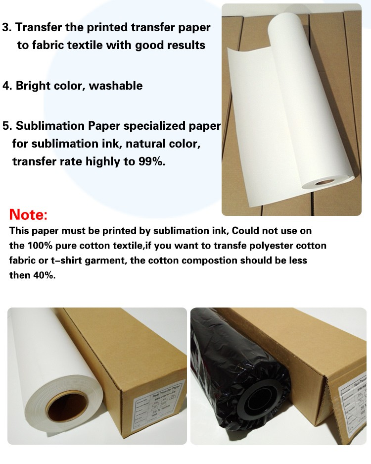 Wholesale heat transfer paper A4 A3 size sublimation paper for t shirts