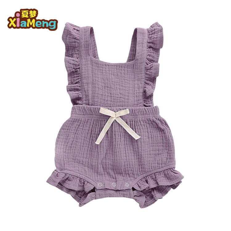 Newborn flutter sleeve sunsuit toddler baby girl ruffles romper фото