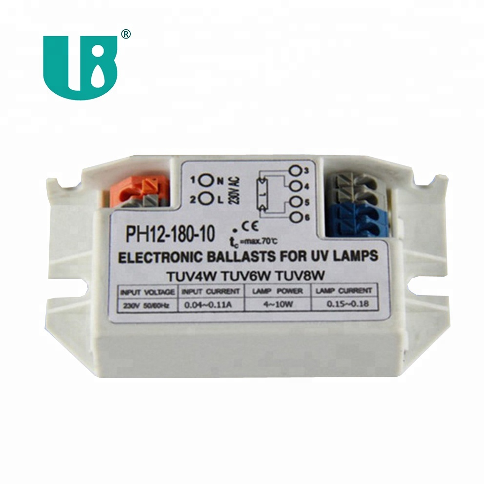 6W GPH212T5 UV Germicidal Lamp matched energy saving product ballast electronic PH12 180 10
