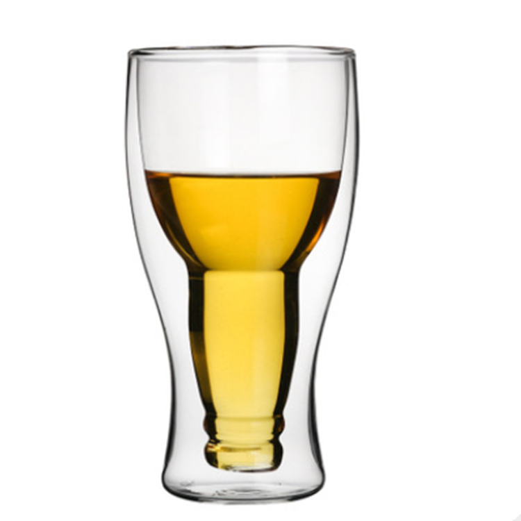 Promotion Custom 330ml Ceramic Beer Bottle Shape Cheap Double Wall Glass  Beer Mug Quality Pint Beer Glasses - Buy Pint Beer Glasses,Quality Beer