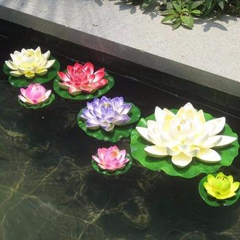 Fleurs Artificielles En Plastique Faux Bouquet Lotus Pour Mariage Jardin  Étang Décoration - Buy Fleur En Plastique Artificielle,Fleur En ...