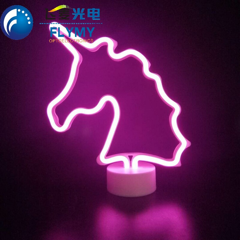New Product Led Neon light With Separated Base Christmas Tree Double Sided Lighting Home Indoor Decoration