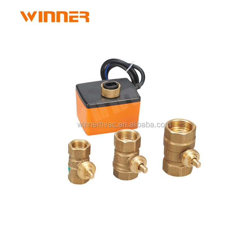 hydraulic brass 220v two way dn20 motorized control valve
